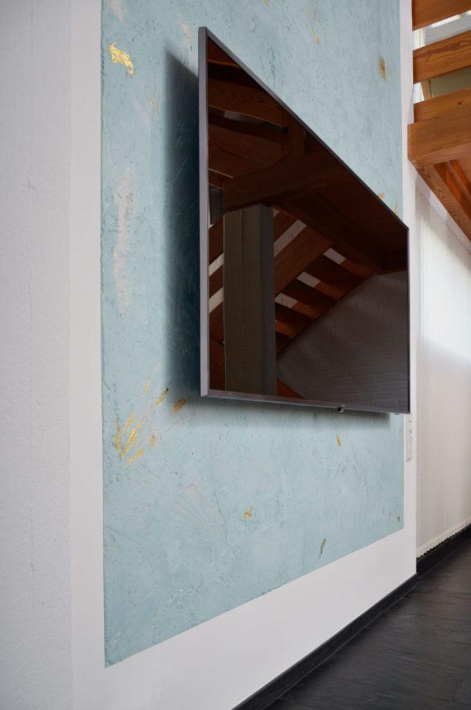 spachteltechnik mit goldeinlagen boris smorhaj. Black Bedroom Furniture Sets. Home Design Ideas